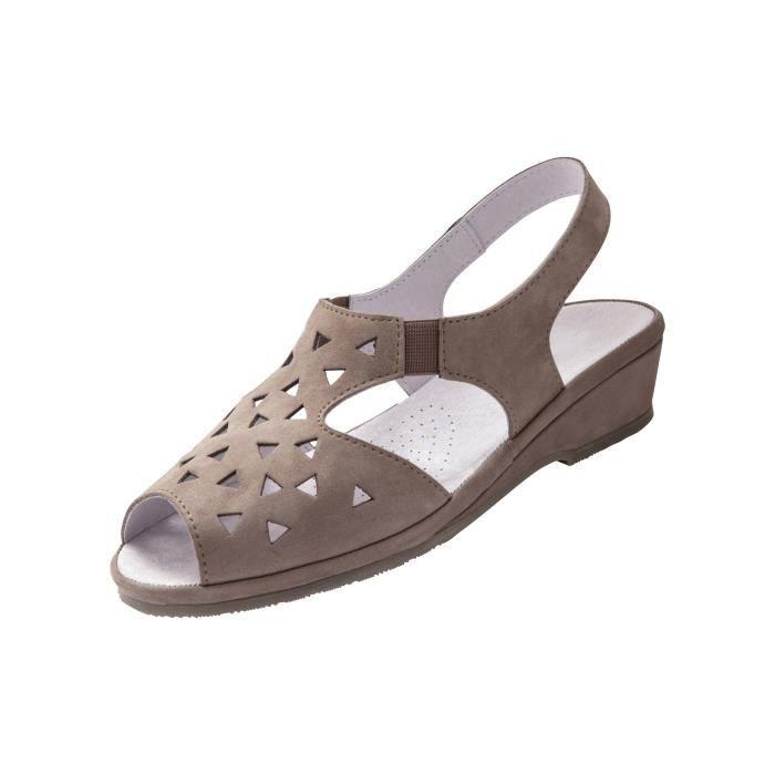 Sandales ultra souples, en cuir