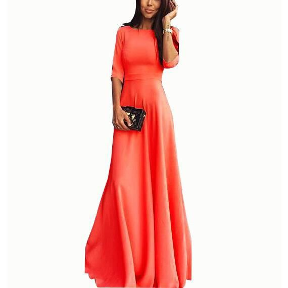 Robe chic longue rouge