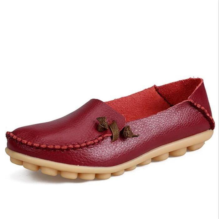 Moccasins femmes Marque De Luxe Qualité Chaussure Plus Taille cuir Nouvelle arrivee Confortable Respirant femme Moccasin