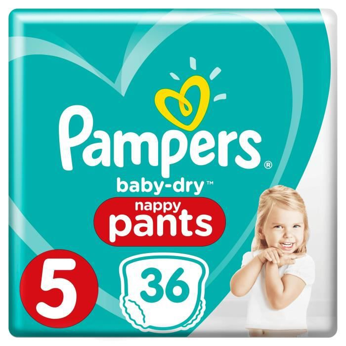 COUCHE Pampers Baby-Dry Pants Taille 5 11-18 kg - 36 Couc