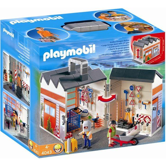Playmobil 4043 atelier de chantier transportable achat vente univers miniature cdiscount - Toute les maison playmobil ...