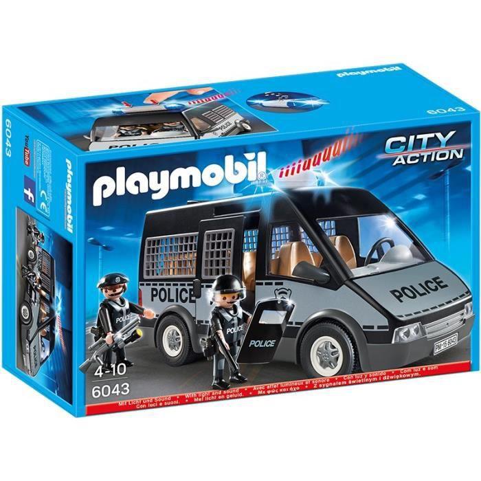 playmobil de police achat vente jeux et jouets pas chers. Black Bedroom Furniture Sets. Home Design Ideas