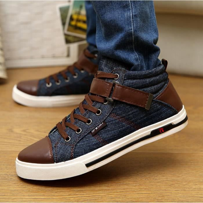 chaussures montantes Mode Chaussure Homme Basket Homme Skate Shoes odKnAFmn