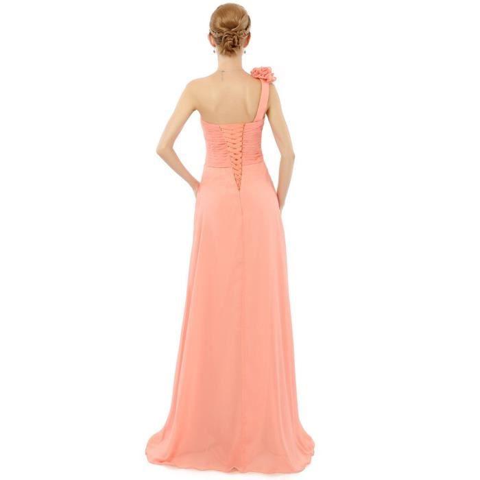 Femmes Robe en mousseline de soie épaule de demoiselle dhonneur de bal longues robes de soirée 2X26O5 Taille-32