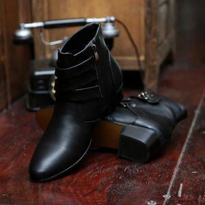 Bottes pour Hommenoir 8.5 Britannique de style Chaussures bout pointu en cuir Mode homme d'affaires Casual_37745 37GezNQS