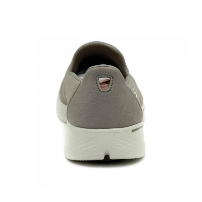 SKECHERS Chaussures Slipo-sur - Textile - Taupe - Aller à Pied 4 - Taille - Quarante Femme Ref. 1603_15865