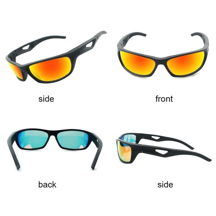 Mirror Coating Polarized Running Cycling Lunettes de soleil Femme Masculine Sports Lunettes Jaune