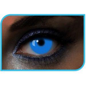 MAQUILLAGE Lentilles couleur fluo UV bleu Taille Unique