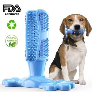 BROSSE - CARDE Weiqiao® Brosse à Dents Chien Jouet Brossage Netto