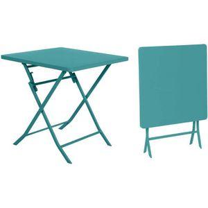 table de jardin 70 x 70 cm achat vente pas cher. Black Bedroom Furniture Sets. Home Design Ideas