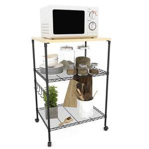 Table d appoint a roulettes achat vente pas cher - Table etagere cuisine ...