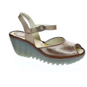 Achat Pieds Sandales Nu Jaune Fly Vente London Or Sandale WHIED29Y