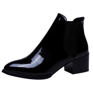bca2816d2314 BOTTINE Ankle Boots Femme Hiver Bottines Chelsea à Talon A