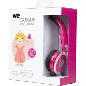 CASQUE - ÉCOUTEURS WE Casque audio pour enfant - Rose