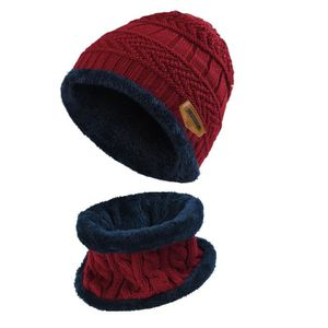 BONNET - CAGOULE Vbiger Ensemble bonnet et écharpe tricotés pour en ... 93fbb0e12f3