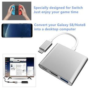 CÂBLE JEUX VIDEO Station d'accueil USB Type C adaptateur convertiss