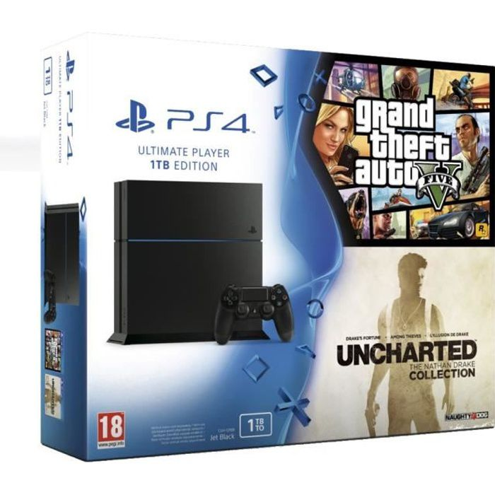 CONSOLE PS4 PS4 1 To + GTA V + Uncharted The Nathan Drake Coll
