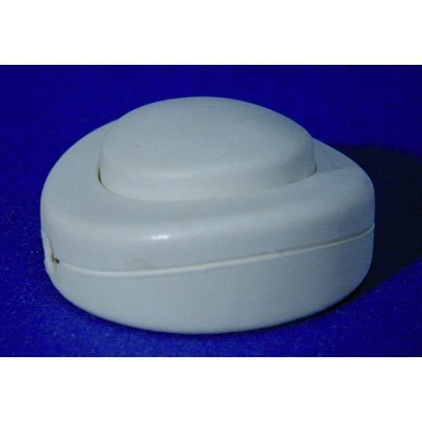 VOLTMAN Interrupteur Pied de Lampe Rond Blanc