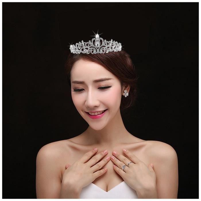 Mariage Tiare, Nuptiale Couronne Tiara Avec Cristaux Strass Pour Le Mariage, Proms, Pageants, Princesse Parties, Anniversaire