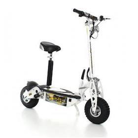 trottinette électrique sxt scooter 1000 w turbo blanche batterie