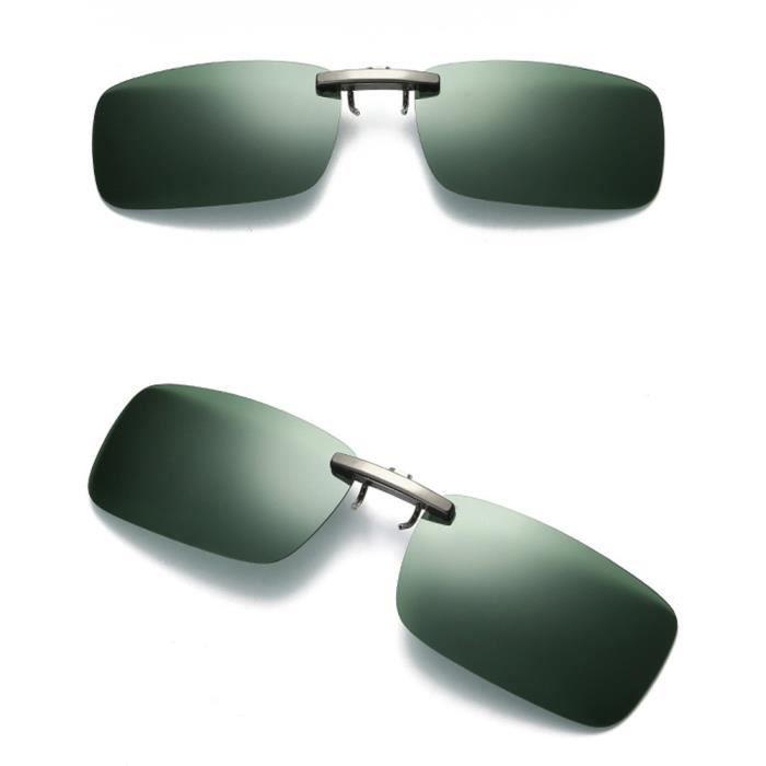 lunettes Deuxsuns® polarisé des clip conduisant Lentille le de par métal de nocturne verres de soleil vision sur détachable zf300 FwFxOrq