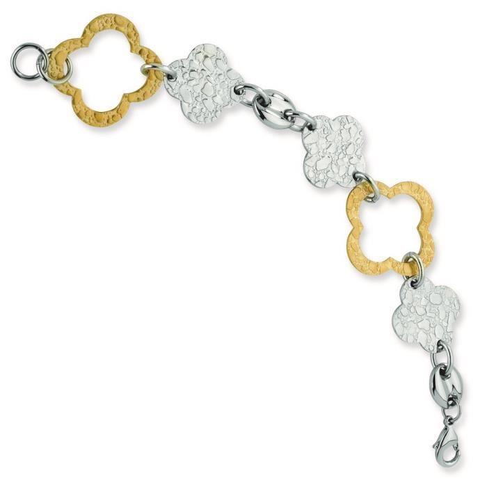Acier inoxydable plaqué IP Fancy Or, Bracelet lien - 8 -