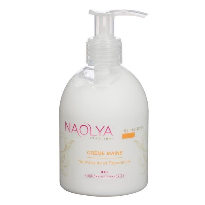 Naolya - Crème mains hydratante aux huiles d amande douce et de Carthame -  250ml c0b7aa84fef
