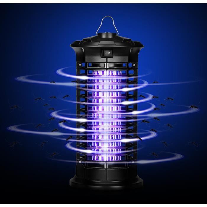 4W LED UV Lampe Anti Moustique Interieur et Exterieur Électrique Tueur de Moustique Tueur D'insectes Mouches Piège