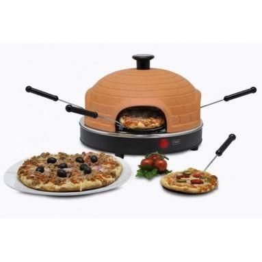 four pizza 4 personnes avec d me en terre cuite achat. Black Bedroom Furniture Sets. Home Design Ideas
