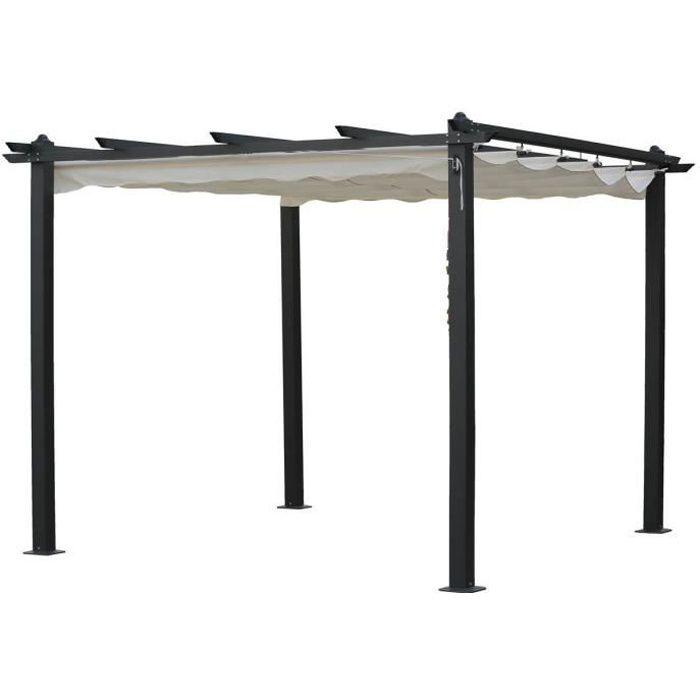 pergola aluminium achat vente pas cher cdiscount. Black Bedroom Furniture Sets. Home Design Ideas