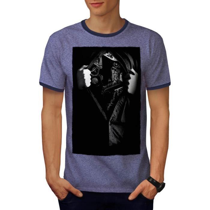 Homme Mode S 2xl Shirt Men Cœur Dos Machine Mécanicien Le T OPXZkiu