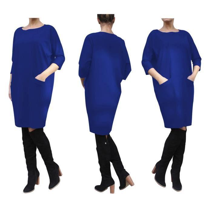 fb55b6fceec Femme Robe En vrac Mode De Marque De Luxe Robes Avoir une poche Meilleure  Qualité vetements