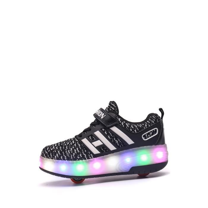 Roues Light Up Chaussures Double Wheel Sneakers Casual Boy - Girl 9328250 hwxK6UGu