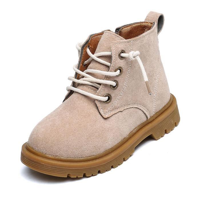BOTTE Enfants Mode Garçons Filles Martin Sneaker Bottes Enfants Bébé Casual Chaussures@Beige gxwZwwwj8