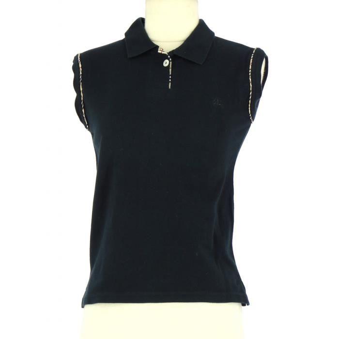 Tee-Shirt BURBERRY M Noir Noir - Achat   Vente t-shirt - Soldes  dès ... f0917468d1f