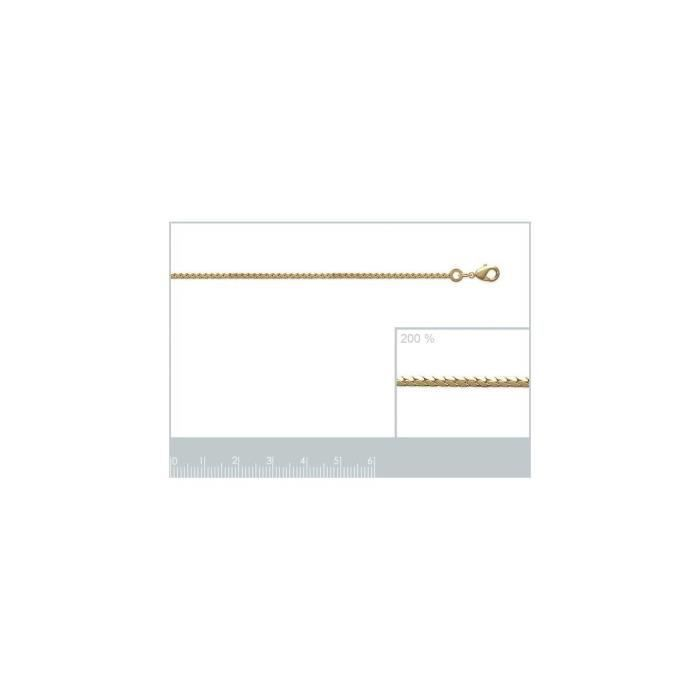 Isady - Anglaise 2,00 mm / 45 cmGold - Chaîne Collier - Mixte - Plaqué or jaune 18K