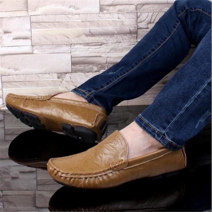 en ete De Marque De Luxe chaussure homme hommes Moccasin 2017 cuir 7Cwqna5