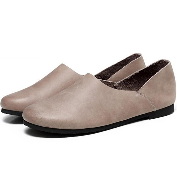 Chaussures en cuir Mocassins Slip-Ons VEMWL Taille-37 1-2