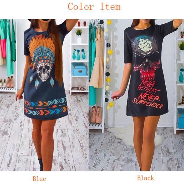 Paquet dimpression hip Slim Robe Mini dress