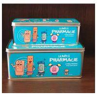 set de 2 bo tes pharmacie couleur bleu achat vente boite de rangement m tal cdiscount. Black Bedroom Furniture Sets. Home Design Ideas