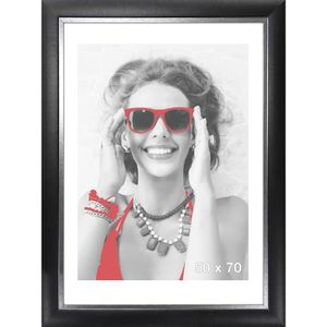 CADRE PHOTO LYRICA Cadre photo 50x70 cm noir et argenté