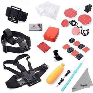 PACK CAMERA SPORT Deyard ZG-646 GoPro Kit d'accessoires 28 en 1 - Po