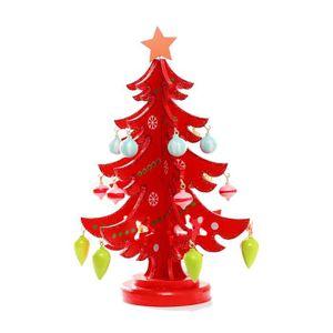 COFFRET DE DÉCORATION 3D en bois Assemblage d'arbre de Noël Accueil Déco