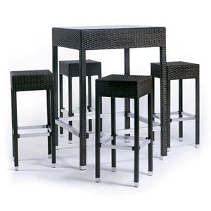 Table bar resine noir - Achat / Vente pas cher -