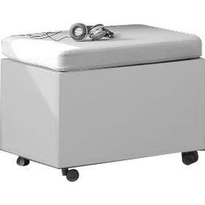 coffre de rangement roulette coloris blanc achat vente coffre de rangement roule. Black Bedroom Furniture Sets. Home Design Ideas