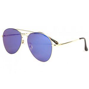 LUNETTES DE SOLEIL Lunettes soleil aviateur miroir bleu dorée Flying c8357acc7cc5