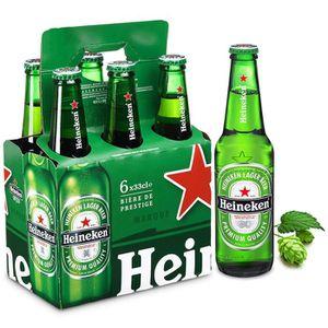 BIÈRE HEINEKEN Bière blonde 5 % - 6x33 cl