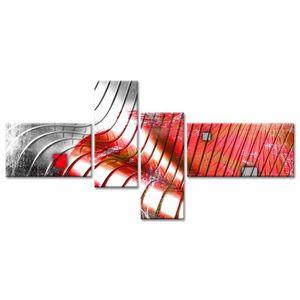 TABLEAU - TOILE Tableau Déco Design Abstrait Vaguelettes - 130x65