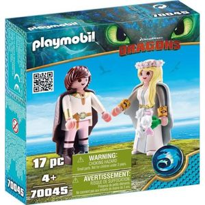 FIGURINE - PERSONNAGE PLAYMOBIL 70045 - Dragons - Astrid et Harold