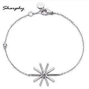 BRACELET - GOURMETTE SHARPHY® Bracelet Femme 925 Argent Diamant Fleur d